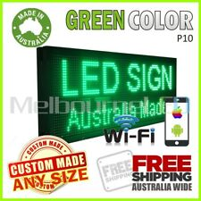LED SIGN Green WiFi Control Programmable Message Window Display Board 990 x 350