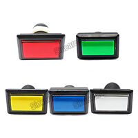 5x Arcade game Rectangular Illuminated LED Push Button for JAMMA MAME 5 colors