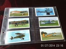 doncella cigarette cards golden age of flying lot 1 numbers 2, 4, 5, 6, 13, 17