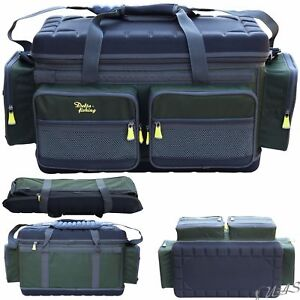 Delta Fishing Luxus XXL CarryaLL Angel Tasche 4+4 Taschen Deckel Bivvy Table Kva