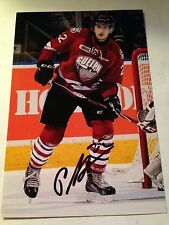 Pius Suter SIGNED 4x6 photo GUELPH STORM / SWITZERLAND #3