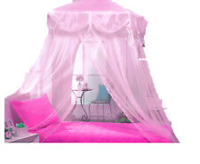 PINK TRI-LACE PRINCESS four corner BED CANOPY MOSQUITO FREE SHIPPING FROM USA