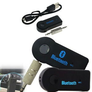 1X Car Wireless Bluetooth 3.5mm AUX Audio Stereo Music Car Receiver Adapter Mic