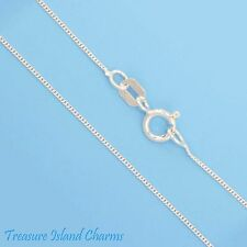 """20"""" FINE CURB LINK 925 Solid Sterling Silver NECK CHAIN NECKLACE 0.5 mm USA MADE"""