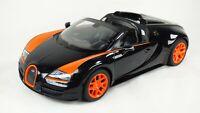 RASTAR 1:14 Bugatti Veyron 16.4 Grand Sport Vitesse Black Orange Car Toy Body