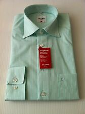 Sky Blue Olymp Casual Pure Linen Long Sleeve Shirt