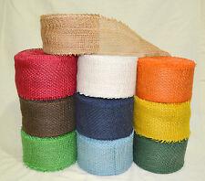 80mm Natural Jute Burlap Hessian Ribbon Scrim Tape Rustic Weddings Decor Crafts