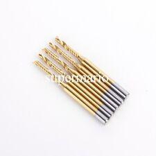 N2 Titanium Coated 5x 1/8'' Carbide One Single Flute CNC Router Bit 2mm x12mm us