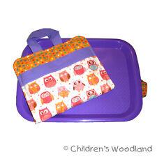 Art Gift for Kids - Girls Owl Traveling Kit - Cute Lap Desk Tray Plane Trip Toy