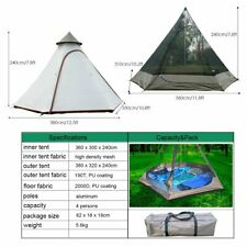Double Door Waterproof Mesh Teepee Camping Yurts Family Tent Tipi 4 pesons Yurts
