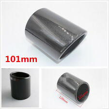 101mm Universal 100% Rear Carbon Fiber Vehicles Exhaust Pipe Cover Accessories*1