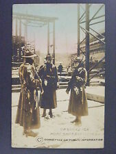 WWI Soldiers Guarding Shipyard CPI Hand Colored Real Photo Postcard RPPC c1918