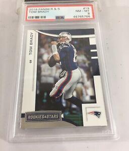 Tom Brady 2018 Panini Rookies & Stars #19 Psa 8 Pop 14