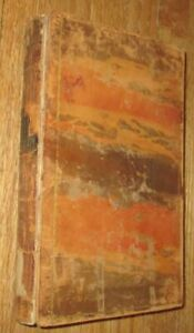 1831 Antique Book - American Naval Battles  -  Boston - leather - illustrated