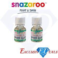 2 x Snazaroo Spirit Gum Special FX Skin Glue Halloween Face Paint Make Up 10ml