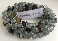 Chunky Smokey Cluster Bracelet Mother Of Pearl Beads Shell Cuff Anthropology