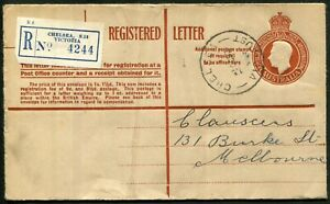 1951 (ACSC.RE36) 1/0½d brown KGVI, FU Oct.1953 from CHELSEA to Melbourne.