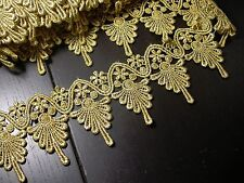 "Venise Lace 3 3/4"" Metallic Gold 3 Yards"