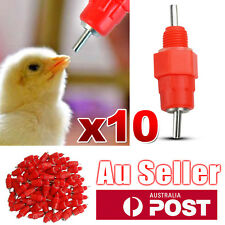 10 Pcs Water Nipple Valves Auto Drinker Waterer Feeder Poultry Chicken Duck Bird