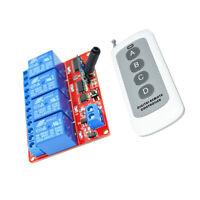 4CH Ricevitore Trasmettitore Senza Fili Telecomando 24V 433MHz 4 Relè