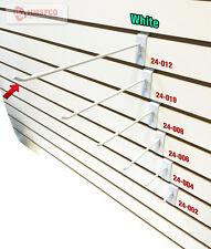 "12"" Slatwall Metal Hooks (24-012WH) - 100 Piece - White (NEW)"