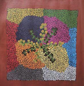 Authentic Aboriginal Painting - Bush Raisins - by Joanna Potter