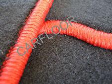 Fußmatten Autoteppich Fiat Coupe ab 3.1994 Salza anthrazit Kettelung Orange