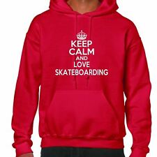 Keep Calm And Love Skateboarding Hoodie