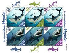 More details for chad sharks stamps 2020 mnh megalodon shark prehistoric animals 6v m/s