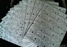 30 Sheets of Luxury Top Quality White and Silver Wedding Wrapping Paper 50p each