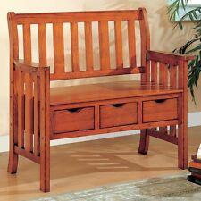 Coaster 300075 - Benches Three Drawer Storage Bench