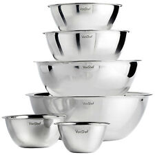 VonShef Professional Premium 6 Piece Stainless Steel Mixing Bowl Set