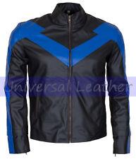 Batman Arkham Knight Nightwing Faux Leather Jacket Costume
