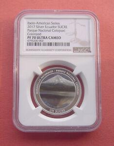 Ecuador 2017 National Park Cotopaxi 1 Sucre Silver Proof Coin NGC PF70UC