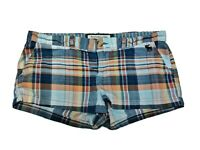 Abercrombie Fitch Perfect Stretch Plaid Fitted Shorts Cotton Spandex Womens Sz 2