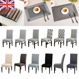 Dining Chair Seat Covers Spandex Table Mats Placemat Coaster PVC Kitchen Banquet