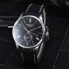 42mm Parnis Black Dial Roman Numerals Automatic Sea gull Movement men's Watches