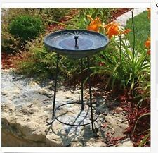 Outdoor Bird Bath Fountain Yard Garden Solar Powered Water Birdbath Cover Plate