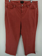 NYDJ Skinny Capri Jeans with Side Slits -Chili Pepper R16 A350793