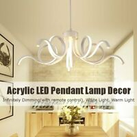 Dimmable Modern Acrylic LED Pendant Lamp Ceiling Light Chandelier Fixture Decor