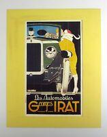 Nachlass alter Reklame Druck hinter Passepartout Oldtimer France 80er 50x40cm 94