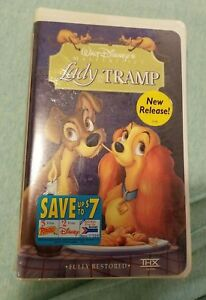 Walt Disney's LADY AND THE TRAMP Masterpiece Collection VHS Movie SEALED Vintage