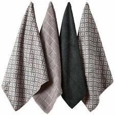 Ladelle Set of 4 Microfibre Carver Charcoal Tea Towels 45cm X 70cm