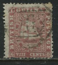 British Guiana 1862 8 cents rose perf 12 1/2 used