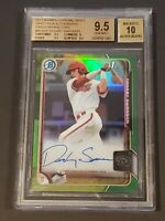 2015 Bowman Chrome Green Refractor /99 Dansby Swanson Rookie BGS 9.5/10 Auto