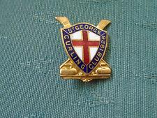 VINTAGE ST GEORGE CURLING CLUB 1926 - ONTARIO CANADA - ENAMEL PIN BADGE