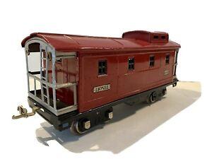 1927 LIONEL PREWAR TRAINS -3-RAIL CABOOSE NO. 517 WITH LIGHT- STANDARD GAUGE VG