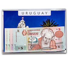 1998-2008 Uruguay 5-50 Pesos Banknote Set Unc - SKU #36755