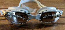 Zodaca adults swim goggles UV shield anti-fog silver