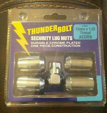 Thunder Bolt Security Lug Nuts 19903 12mm X 1.25 Thread ACORN Pkg of 5